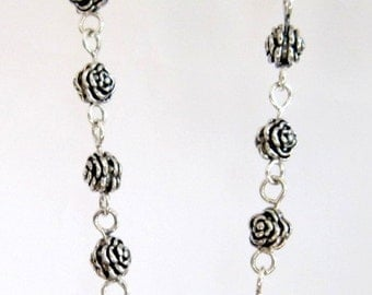 Necklace Rosary 925 Sterling Silver