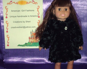 American girl faux fur coat, lined in silk.