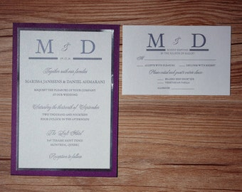 Purple and silver Wedding Invitations, Purple and silver Invitations, Purple and silver Invitation, purple wedding invitations, invitations