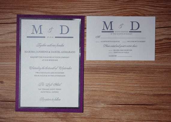 Silver And Purple Wedding Invitations: Purple And Silver Wedding Invitations Purple And Silver