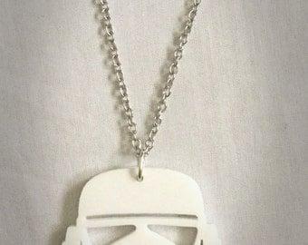 Star Wars storm trooper necklace