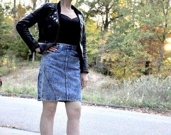 Vintage Acid Wash Jean Skirt 80s  90s