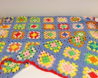 crochet throw blues