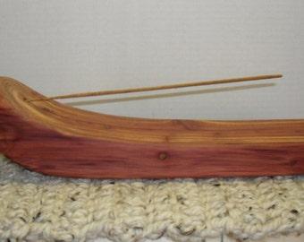 Handmade Incense Burner, cedar wood