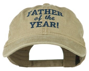 Father of the Year Embroidered Washed Cap