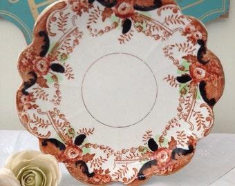 Stunning Victorian Imari Antique Melba China Vintage Cake Plate