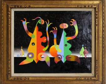 Whimsical Surrealist Painting by Seymour Zayon