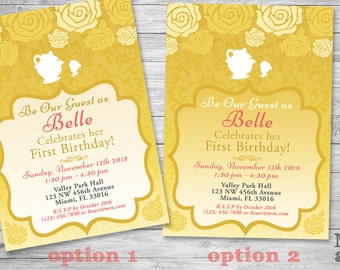 Beauty And The Beast Wedding Invitations Be Our Guest