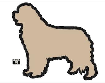 Newfoundland Dog Applique Designs in 4 sizes