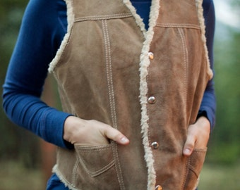 Davy Crockett Frontier Leather Vest - Women's Size M