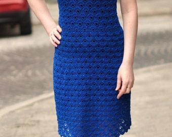 Вязанное платье ручной работы (крючок)/Knitted dress handmade (hook)