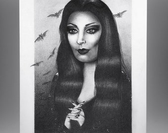 Morticia Addams - 6x9 art print
