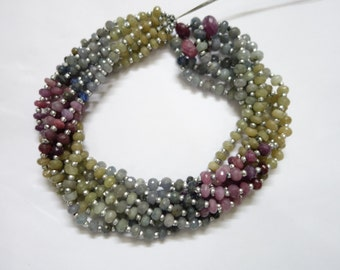 Multi Sapphire Faceted Round