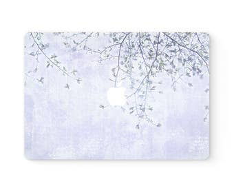 MacBook Cover Top Front Lid MacBook Decal MacBook Skin MacBook Sticker Air/Pro/Retina Touch Bar 11 12 13 15 17 inch | Purple Flowers