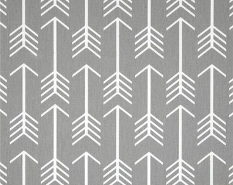 Premier Prints Cotton Twill Fabric, Grey Arrow Fabric