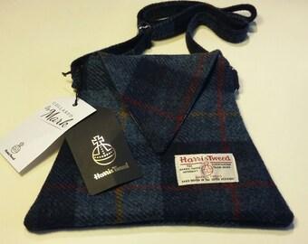 Harris Tweed Blue handbag