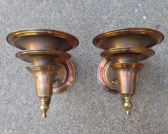 Art Deco 1930's Machine Age torchiere wall sconces