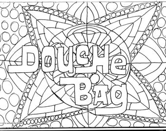 Douche Bag Coloring Page