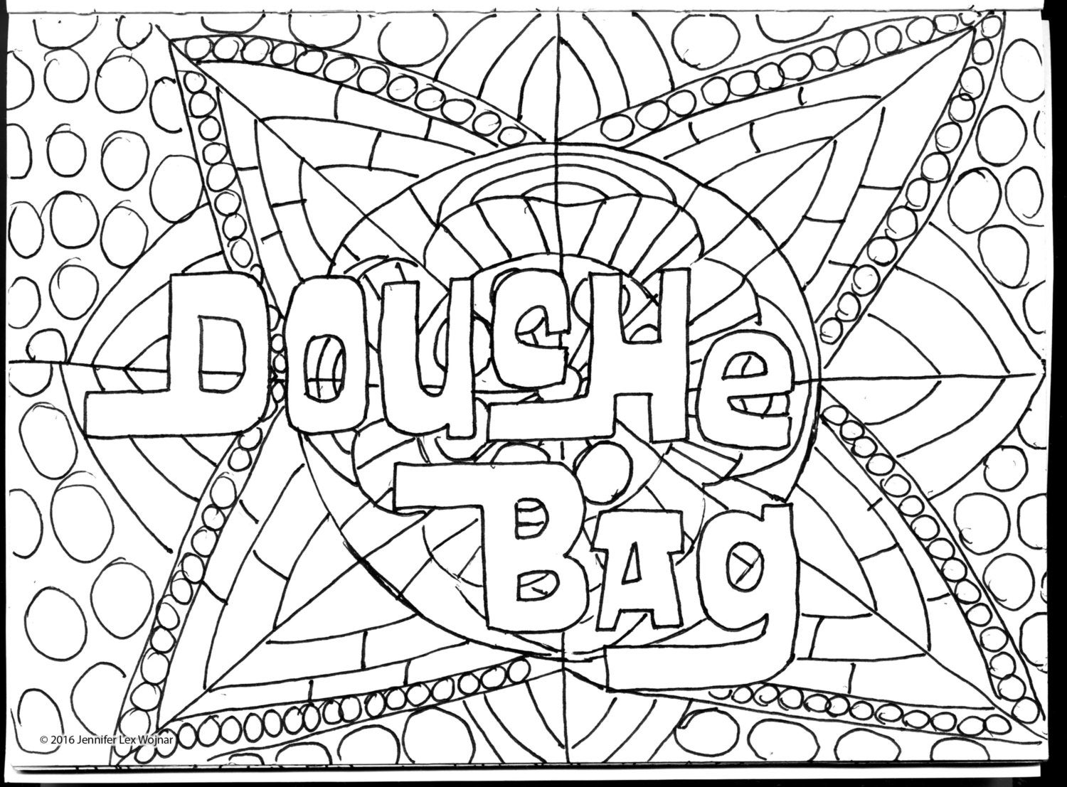 Coloring Book Pages Asshole Parking