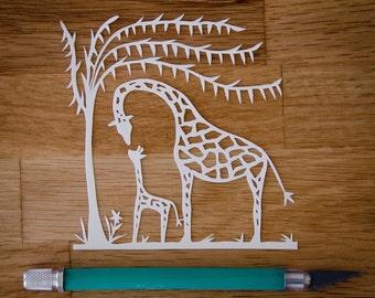Original Papercut Giraffe