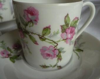 "Set of 5 cups ""Haviland & co."""