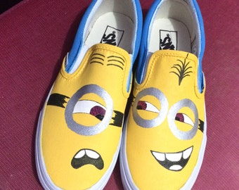 Hand-painted MINION vans shoes