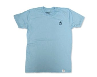 Ampersand Embroidery Tee (Baby Blue)
