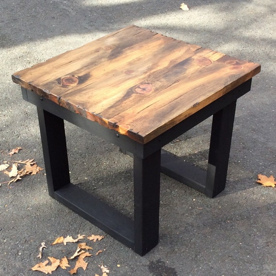Large Distressed Wood Coffee Table: Rustic End Tablerustic Coffee Table Distressed Table Rustic