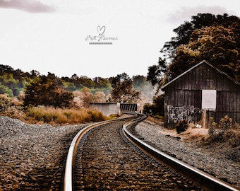 Wall Art, Pictures,  Photography, Color Photography, Wall Decor, Gifts Under 25, Train Photography