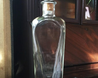 Vintage Glass Whiskey Decanter with Stopper