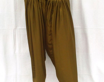 Indian harem pants, unisex trousers, Indian trousers color bronze, brown trousers, ethnic pants, wide trousers, Indian Crafts