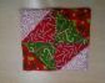 Red and Green Christmas Potholders