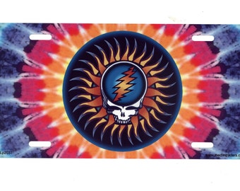 Tie Dye Steal Your Face License Plate LP2037