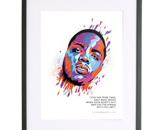 Biggie Smalls The Notorious B.I.G 'Sky's the Limit' Print