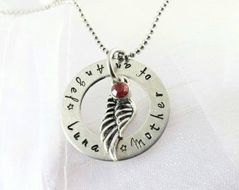 Infant Memorial ~ Infant Loss Jewelry ~ Baby Angel Wings ~ Miscarriage Necklace ~ Loss Of A Child ~ Loss of Baby ~ PoliteTwistedJewel
