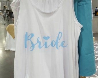 Bride blue tank