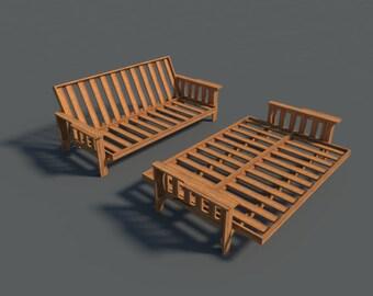 Build your own Futon (DIY Plans) Fun to build! Save money!