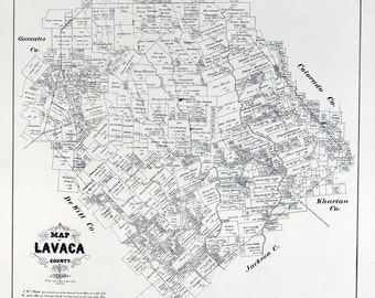 1879 Map of Lavaca County Texas