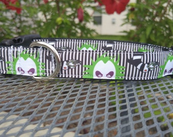 Beetlejuice dog collar