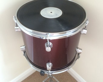 Upcycled Tom Drum Side Table