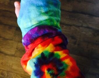 Fleece Sleeves- Tie Die
