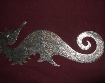 forged textured seahorse