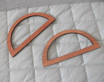 Pair of Wooden Bag Handles & Instructions