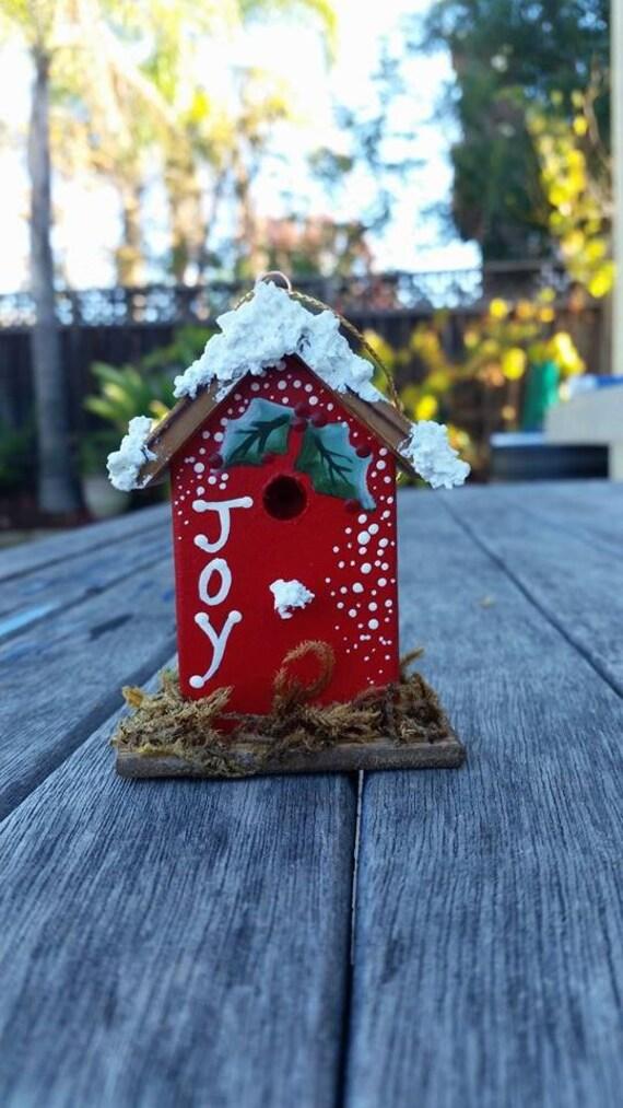Birdhouse Christmas Tree Ornaments : Christmas bird house ornament tree