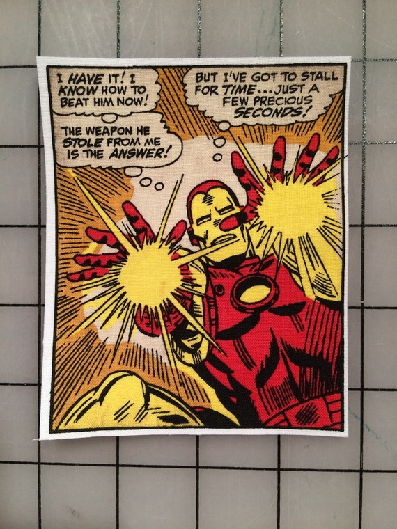 Avengers Iron Man Classic Comic Strip Frame By