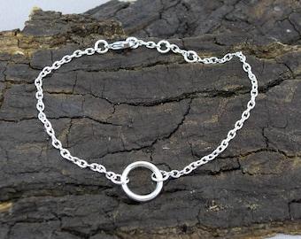 Bracelet Karma ring silver