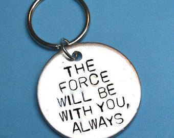 Star wars gift, Teen boy gift, may the force be with you, valentines gifts, Birthday present, quote,Darth vader,for him, keyring, keychain