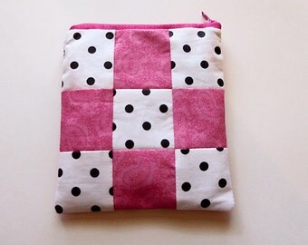 Mix print zipper pouch