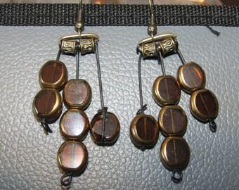 Dangling Beaded Handmade Earrings