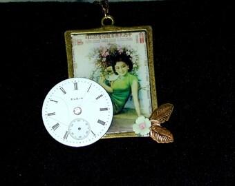 Steampunk watchworks oriental necklace